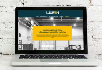 Vehree mainostoimisto: Referenssit - Luumen - Internet-sivuston suunnittelu ja toteutus