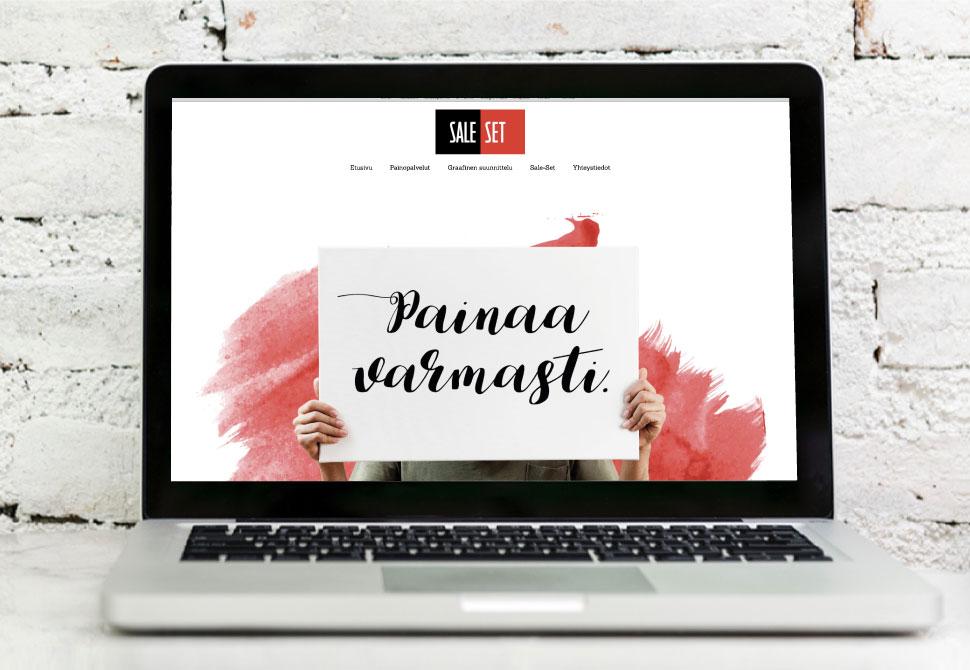 Vehree mainostoimisto: Referenssit - Sale-Set: Internet-sivuston suunnittelu ja toteutus (2018)