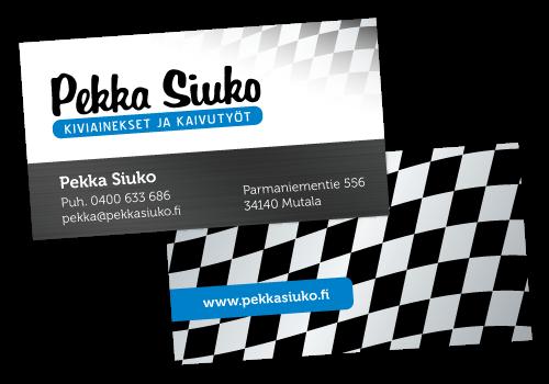 Käyntikorttien suunnittelu // Referenssit // Pekka Siuko