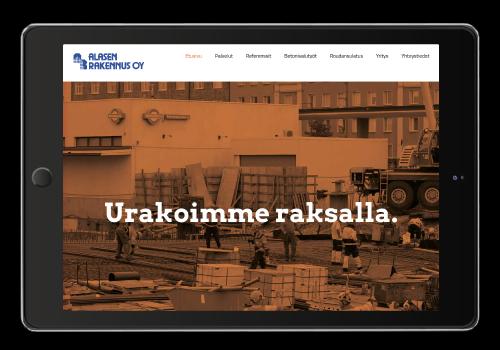 Nettisivujen suunnittelu // Referenssit // Alasen Rakennus