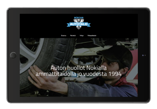 Nettisivujen suunnittelu // Referenssit // Nokian Autotalo
