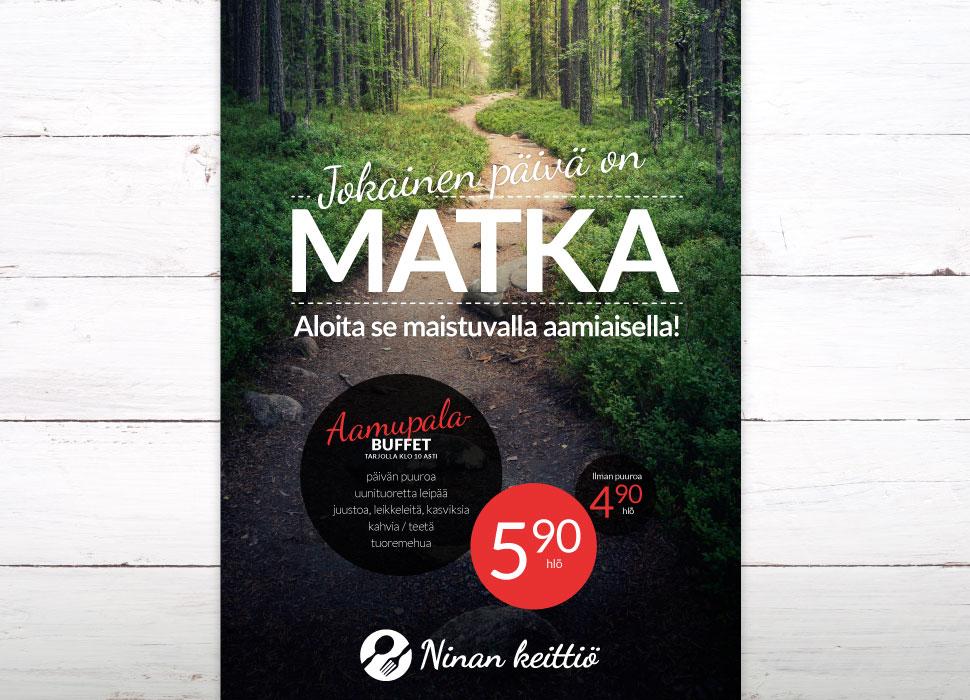 Referenssit - Ninan Keittiö: Aamiaismainoksen suunnittelu