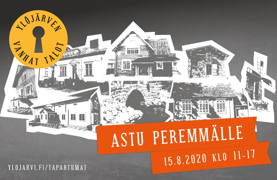 Vehree - Referenssit: Ylöjärven kaupunki - Ylöjärven vanhat talot -tapahtuman logon, ilmeen ja mainosmateriaalien suunnittelu, 2019.