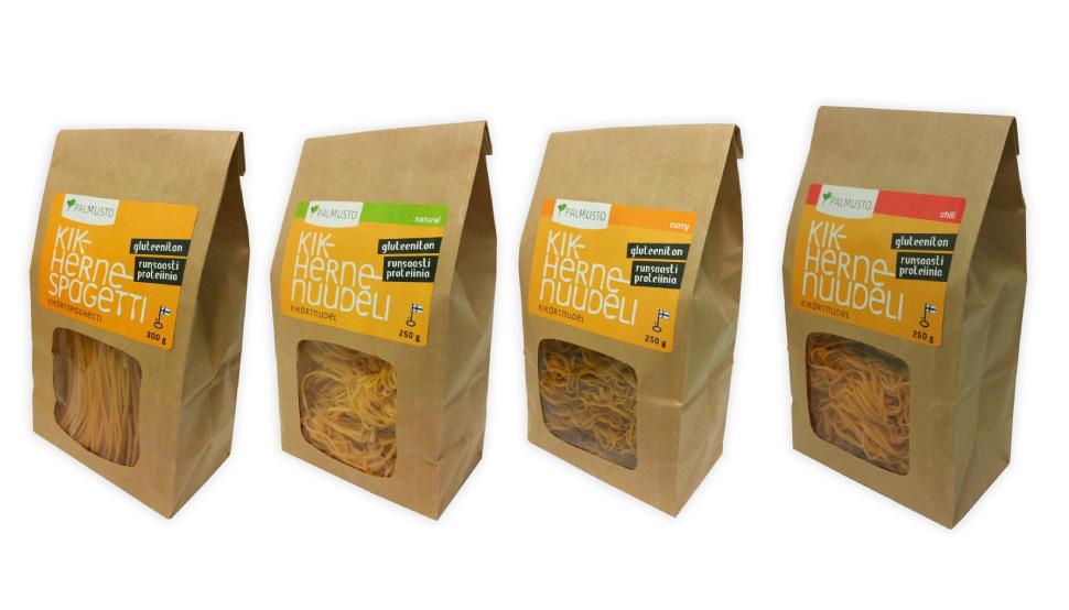 Vehree suunnitteli Palmuston pastapakkauksille logon, ilmeen ja tuote-etiketit vuonna 2015.